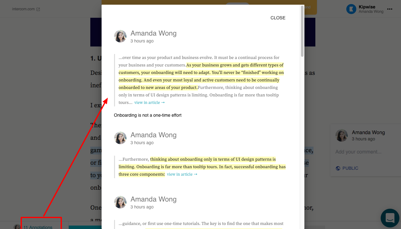 How does article annotation works? - Kipwise Help Center
